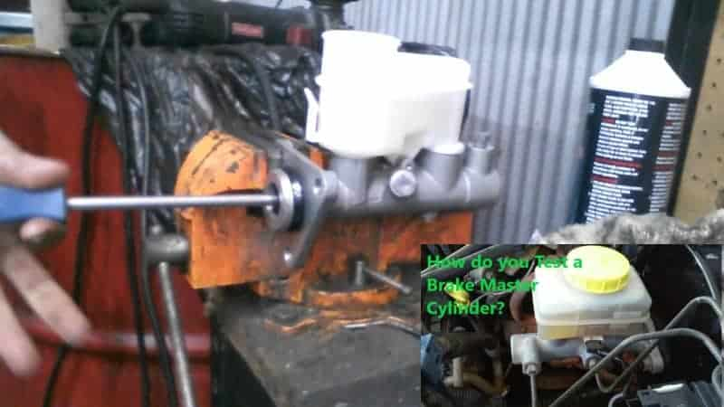 how to test if brake master cylinder is bad
