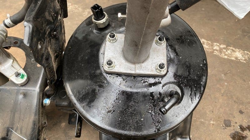 bad master cylinder or brake booster
