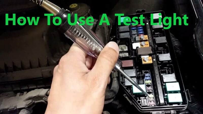 how to use a test light to find a short