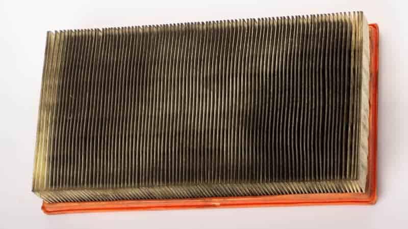 oil in air filter atv