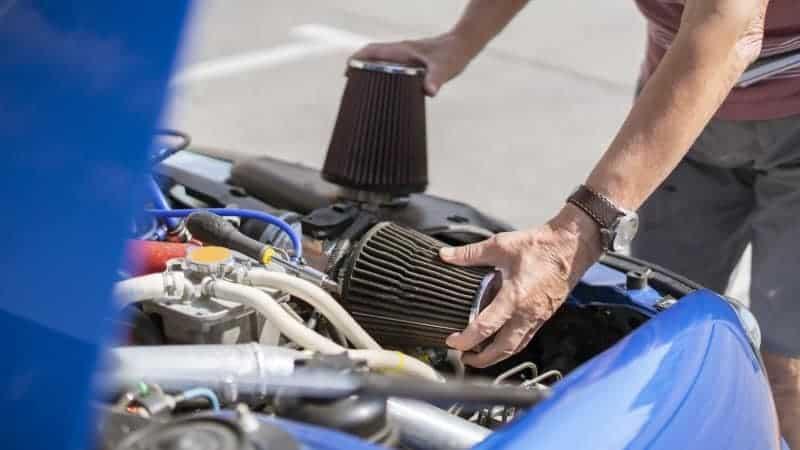 oil in air filter turbo diesel