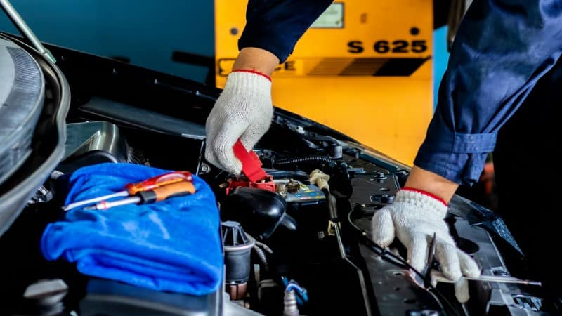 clean car battery terminals