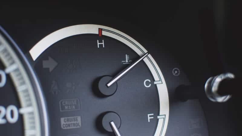 car temperature gauge hot then normal