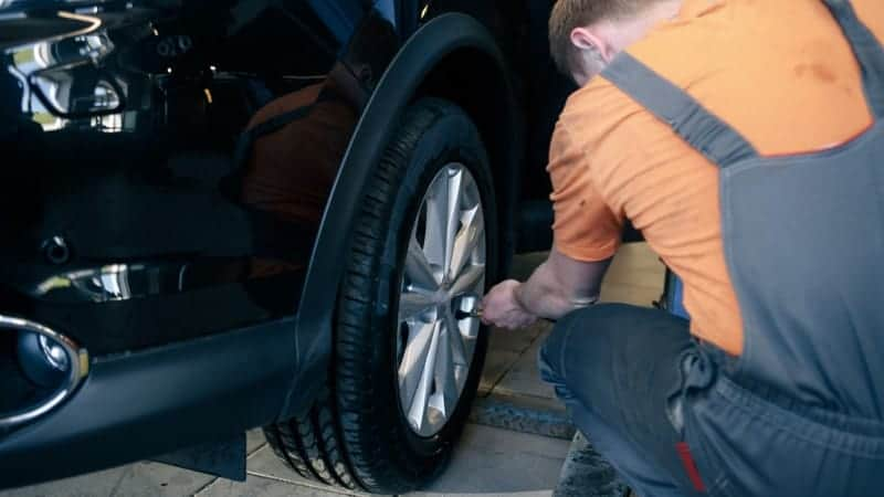 how to check brake pads with wheels on