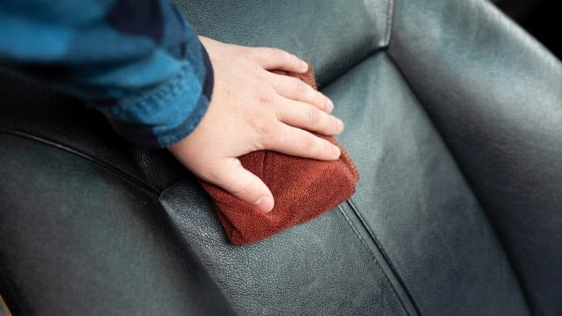 how to condition leather car seats
