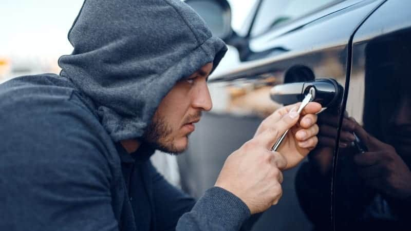how to unlock a car door with a screwdriver