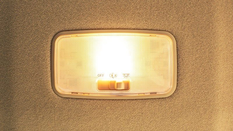 interior lights stay on while driving