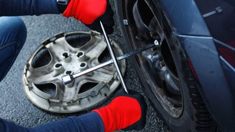 hubcap fell off