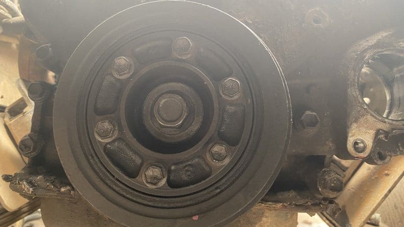 how to remove crankshaft pulley bolt with impact gun