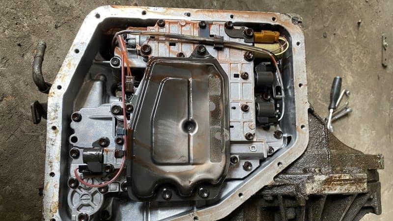 aluminum shavings in transmission pan