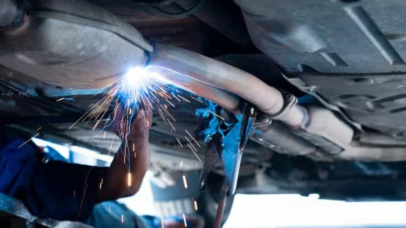 joining exhaust pipes without welding